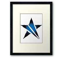 The Shattered Star (Blue Alt) Framed Print