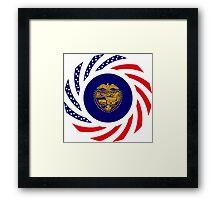 Oregon Murican Patriot Flag Series Framed Print