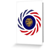 Oregon Murican Patriot Flag Series Greeting Card