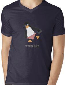 Tucks the penguin Mens V-Neck T-Shirt