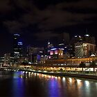 Melbourne City At Night by Scott Sheehan