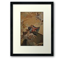 Mary with little angels Framed Print