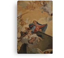 Mary with little angels Canvas Print
