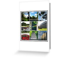 The Preston Temple Grounds in High Summer Collage Greeting Card
