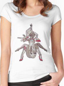 Professional Black Widow Figure Women's Fitted Scoop T-Shirt