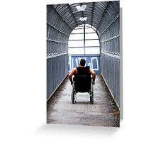 Uphill Struggle Greeting Card