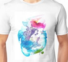 """""""With the Head in the Clouds"""" from the series: """"Angels of Protection"""" for Kids Unisex T-Shirt"""