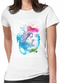 """""""With the Head in the Clouds"""" from the series: """"Angels of Protection"""" for Kids Womens Fitted T-Shirt"""