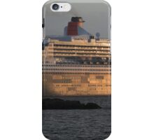 RMS Queen Mary 2 at Sunset iPhone Case/Skin