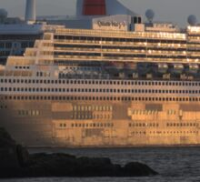 RMS Queen Mary 2 at Sunset Sticker