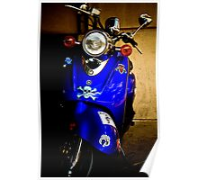 Blue Scooter Poster