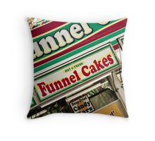 Funnel Cakes Throw Pillow