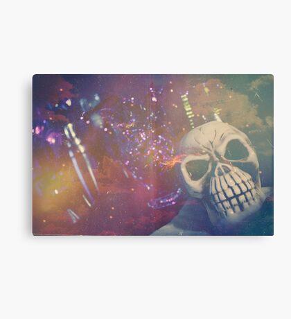Purple Skull Canvas Print