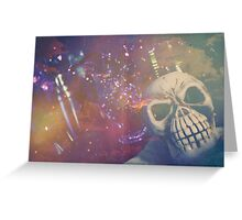 Purple Skull Greeting Card