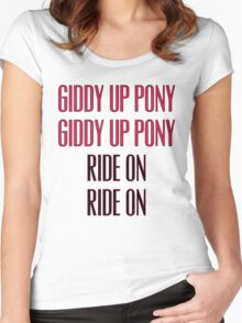 Clutch - Giddy up pony, Ride On Women's Fitted Scoop T-Shirt