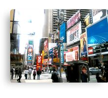 47th and Broadway - Times Square Canvas Print