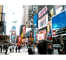 47th and Broadway - Times Square Photographic Print