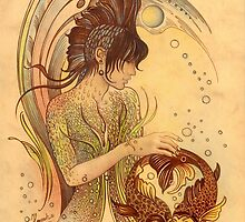 """THE PISCES"" - Protective Angel for Zodiac Sign by Anna Miarczynska"