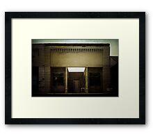 Main Street Facade Framed Print