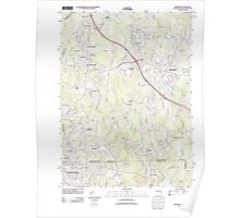 Massachusetts  USGS Historical Topo Map MA Franklin 20120613 TM Poster