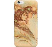 """""""THE GEMINI"""" - Protective Angel for Zodiac Sign iPhone Case/Skin"""