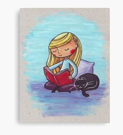 Peaceful Reading Canvas Print