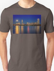 Boston's Blue Moon Skyline Unisex T-Shirt