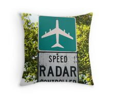 Pull Over Mr. 707 Driver, You're Nicked! Throw Pillow