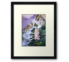 Huang Shan Magic brush Framed Print