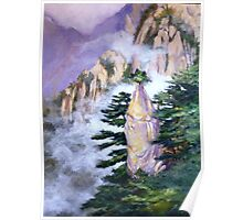Huang Shan Magic brush Poster
