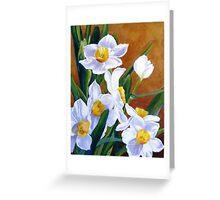 White daffodils Greeting Card