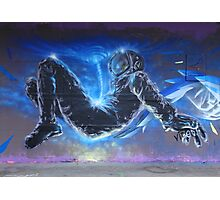 Fantasy Astronaut Graffiti Photographic Print