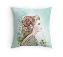 """THE ARIES"" - Protective Angel for Zodiac Sign Throw Pillow"