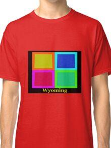 Colorful Wyoming Pop Art Map Classic T-Shirt