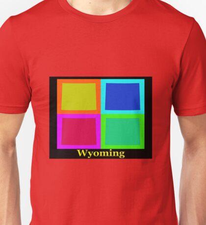 Colorful Wyoming Pop Art Map Unisex T-Shirt