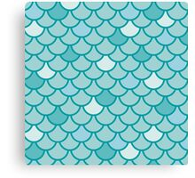 Mermaid Scales - Blue Canvas Print