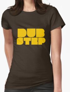 Dubstep yellow Womens Fitted T-Shirt