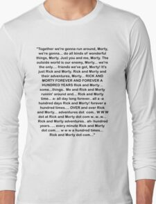Rick and Morty Forever Long Sleeve T-Shirt