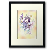"""THE CANCER""  - Protective Angel for Zodiac Sign Framed Print"