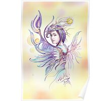 """""""THE CANCER""""  - Protective Angel for Zodiac Sign Poster"""