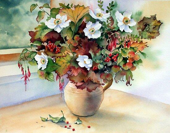 Autumn Jug by Ann Mortimer