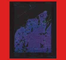 Massachusetts  USGS Historical Topo Map MA Vineyard Haven 350663 1951 24000 Inverted Kids Tee