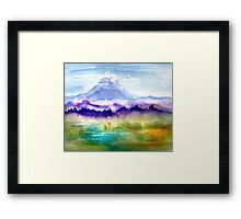 Only The Mountain And I Framed Print