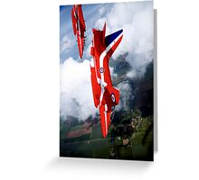 Red Arrows Loop Greeting Card