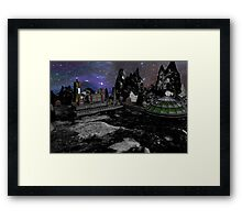 Moon Colony Framed Print