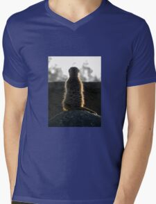 Meerkat Meditation Mens V-Neck T-Shirt