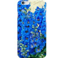 Blue, Blue Delpheniums iPhone Case/Skin