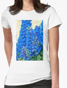 Blue, Blue Delpheniums Womens Fitted T-Shirt