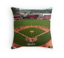 Cincinnati Home of Baseball Fever Throw Pillow