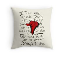 The Catcher in the Rye - Holden's Red Hunting Cap Throw Pillow